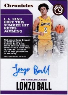 17/18 PANINI CHRONICLES AUTOGRAPHS RED Lonzo Ball【149枚限定】/MATCHUP Mr.2 様