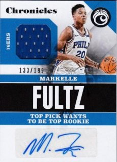 17/18 PANINI CHRONICLES SIGNATURE SWATCHES Markelle Fultz【199枚限定】/MATCHUP BB 様