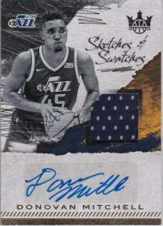 17/18 PANINI COURT KINGS SKETCHES AND SWATCHES Donovan Mitchell【399枚限定】/MATCHUP 壁 様