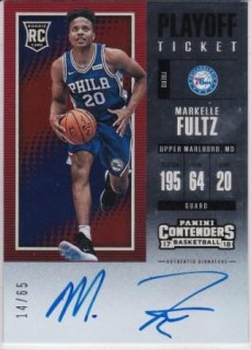 17/18 PANINI PLAYOFF CONTENDERS PLAYOFF TICKETT AUTOGRAPHS Markelle Fultz【65枚限定】/MATCHUP V 様