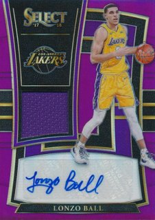 2017-18 PANINI SELECT RC Purple Prizm Jersey Auto Lonzo Ball 【99枚限定】Rookie Star RS16様