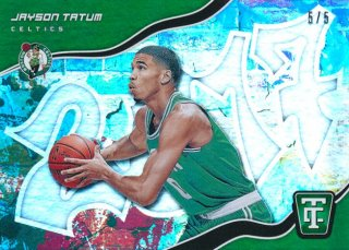 2017-18 PANINI TOTALLY CERTIFIED RC Green Parallel Jayson Tatum 【5枚限定】Rookie Star RS21様