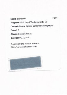 2017-18 PANINI CONTENDERS RC Auto Dennis Smith Jr. 【199枚限定】Rookie Star RS54様