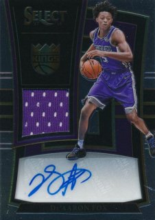 2017-18 PANINI SELECT RC Jersey Auto De'Aaron Fox 【199枚限定】Rookie Star RS54様