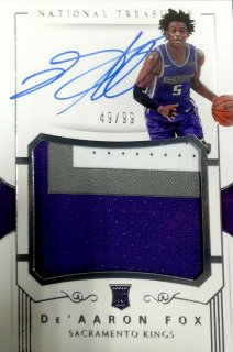 2017-18 Panini National Treasure Rookie Patch Autographs De'Aaron Fox【99枚限定】ミント札幌店 カビー様
