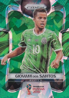 2018 Prizm World Cup Green Crystals Prizm Parallel Giovani Dos Santos 【25枚限定】/ MINT浦和店 クリリン様
