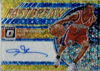 2017-18 PANINI DONRUSS OPTIC Fastbreak Auto Card Gold Allen Iverson【10枚限定※ラストナンバー!】/ MINT立川店 ライス様