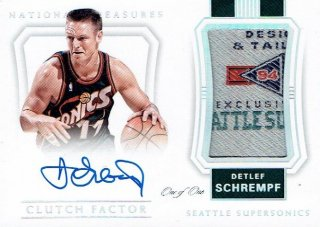 2017-18 PANINI NATIONAL TREASURE Clutch Factor Auto Relics Platinum D.Schrempf【1of1】/ MINT立川店 ニツ様