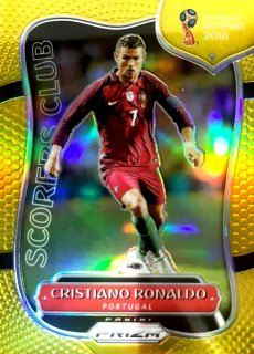 2018 PANINI WORLD CUP PRIZM  Scorers Club Gold Christiano Ronaldo 【10枚限定】 / MINT新宿店 みらお様