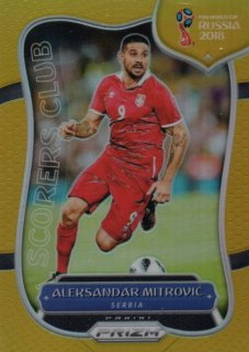 2018 Prizm World Cup Gold Parallel Scorers Club Aleksandar Mitrovic 【10枚限定】 / MINT池袋店 OH様
