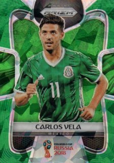 2018 Prizm World Cup Green Crystals Parallel Base Carlos Vela 【25枚限定】 / MINT池袋店 OH様