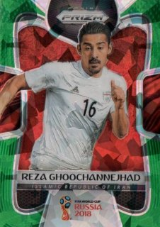 2018 Prizm World Cup Green Crystals Parallel Base Reza Ghoochannejhad 【25枚限定】 / MINT池袋店 OH様