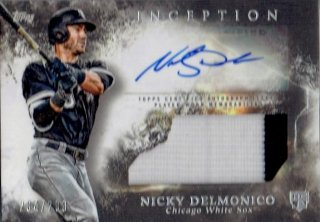 2018 TOPPS INCEPTION Auto Patch Relics Nicky Delmonico【299枚限定】/ MINT立川店 D様