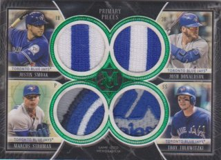 2018 Museum Collection 「J.Smoak/J.Donaldson/M.Stroman/T.Tulowitzki」 P.P.Quad Patch 【1枚限定】ポニーランド 三様