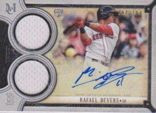 2018 Museum Collection RC Jersey & Auto card  Rafael Devers【199枚限定】ポニーランド MM様