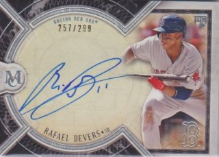 2018 Museum Collection RC Auto card  Rafael Devers【299枚限定】ポニーランド FF様
