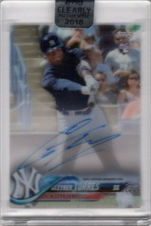 2018 TOPPS CLEARLY AUTHENTIC Autographs Gleyber Torres/ MINT千葉店 Tony様