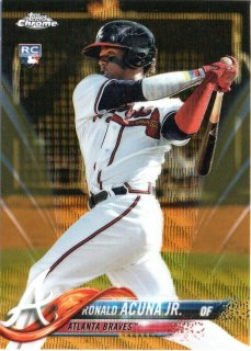 2018 Topps Chrome Gold Wave Parallel Ronald Acuna Jr.【50枚限定】MINT梅田店 ITSUKI推し様