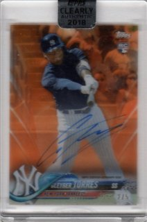 2018 TOPPS CLEARLY AUTHENTIC Autographs Orange Gleyber Torres【5枚限定】/ MINT千葉店 WT様