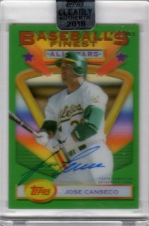2018 TOPPS CLEARLY AUTHENTIC '93 Finest Stars Autographs Jose Canseco【99枚限定】/ MINT千葉店 WT様
