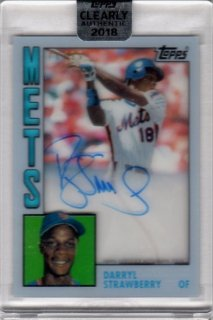 2018 TOPPS CLEARLY AUTHENTIC Reprint Autographs Darryl Strawberry/ MINT千葉店 とちおとめ様