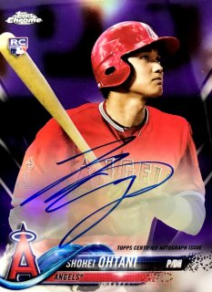2018 TOPPS CHROME Rookie Autographs Purple Ref  Shohei Ohtani 【250枚限定】 / MINT新宿店 荒川悪々様