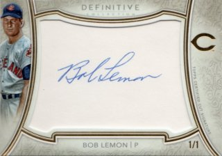 2018 TOPPS DEFINITIVE COLLECTION Cut Signatures Bob Lemon【1of1!!】/千葉店 酸味の効いたロバート様