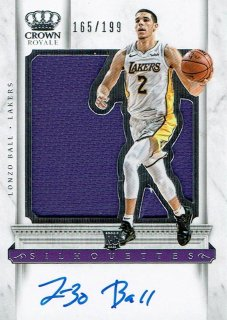 2017-18 CROWN ROYALE Jersey Auto Lonzo Ball【199枚限定】えびすスポーツカード moto様