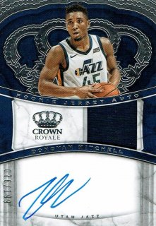 2017-18 CROWN ROYALE Jersey Auto Donovan Mitchell【199枚限定】えびすスポーツカード CP3様