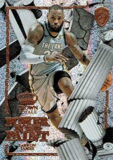 2017-18 CROWN ROYALE Power In The Paint LeBron James えびすスポーツカード CP3様