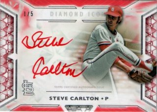 2018 Topps Diamond Icons Red Ink Autograph (Red) Steve Carlton【5枚限定 First No.】MINT梅田店 ミスターミニオン様