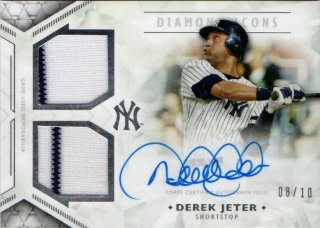 2018 Topps Diamond Icons Single-Player Dual Autograph Relic Derek Jeter【10枚限定】MINT梅田店 ミスターミニオン様