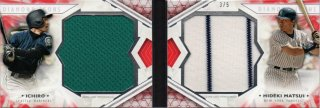 2018 Topps Diamond Icons Dual-Player Dual Relic Book (Red) Ichiro & H.Matsui【5枚限定】MINT梅田店 ミスターミニオン様
