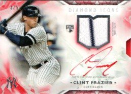 2018 Topps Diamond Icons Autograph (Red) Clint Frazier【5枚限定 RC】MINT梅田店 ミスターミニオン様