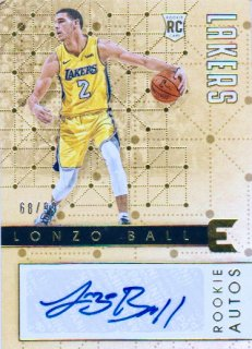 2017-18 PANINI ESSENTIALS Rookie Autos Lonzo Ball 【99枚限定】 / ポニーランド MM様