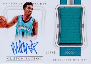 2017-18 PANINI NATIONAL TREASURES Clutch Factor Autograph Relics Malik Monk 【99枚限定】 / ポニーランド MM様