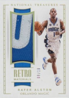 2017-18 PANINI NATIONAL TREASURES Retro Materials  Rafer Alston 【10枚限定】 / ポニーランド MM様