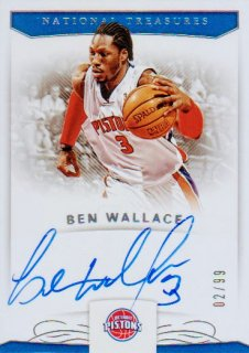 2017-18 PANINI NATIONAL TREASURES Signatures  Ben Wallace 【99枚限定】 / ポニーランド MM様