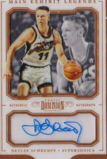 2017-18 PANINI DOMINION Main Exhibit Legends Autographs  Deflef Schrempf 【25枚限定】 / ポニーランド MM様