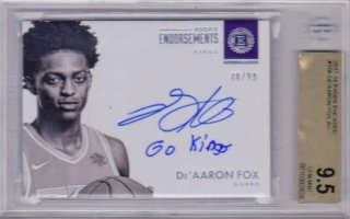 2017-18 PANINI ENCASED Rookie Endorsements Autographs  De'aaron Fox 【99枚限定】  / ポニーランド MM様