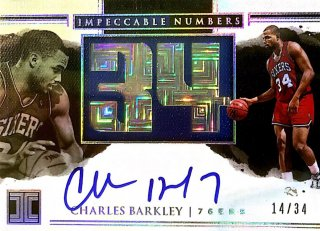2017-18 Impeccable Jersey Number Autographs Charles Barkley 【34枚限定】 / MINT池袋店 セリZ様