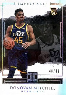 2017-18 Impeccable Holo Silver Base Card (Rookie) Donovan Mitchell 【49枚限定】 / MINT池袋店 セリZ様