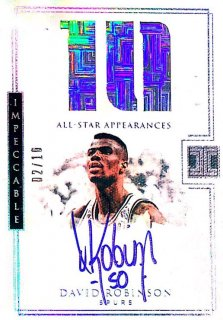 2017-18 Impeccable All-Stars Autographs David Robinson 【10枚限定】 / MINT池袋店 テラ京様
