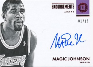 Rookie Star RS1様 2017-18 PANINI ENCASED Auto Magic Johnson 15枚限定