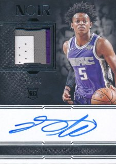 Rookie Star RS2様 2017-18 PANINI NOIR RC Patch Auto De'Aaron Fox 99枚限定
