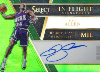 Rookie Star RS9様 2017-18 PANINI SELECT Green Signature Auto Ray Allen 35枚限定