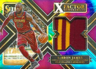 Rookie Star RS16様 2017-18 PANINI SELECT Tie Dye Prizm Patch LeBron James 25枚限定