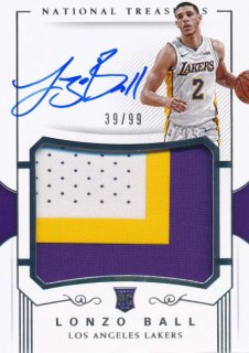 Rookie Star RS54様 2017-18 PANINI NATIONAL TREASURES RC Patch Auto Lonzo Ball 99枚限定