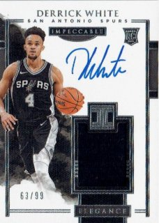2017-18 PANINI IMPECCABLE Elegance Rookie Jersey Auto Derrick White 【99枚限定】 / MINT立川店 かかし様