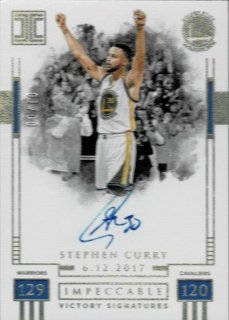 2017-18 PANINI IMPECCABLE  Victory Signatures Stephen Curry【10枚限定】 / MINT渋谷店 H様